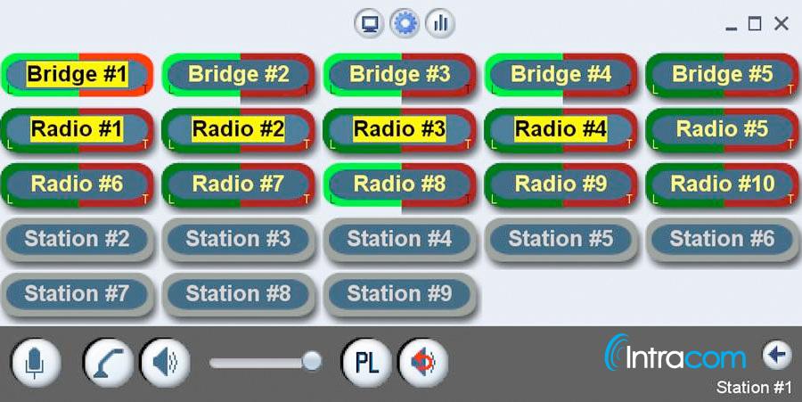 VCOM User Interface RoIP Screen