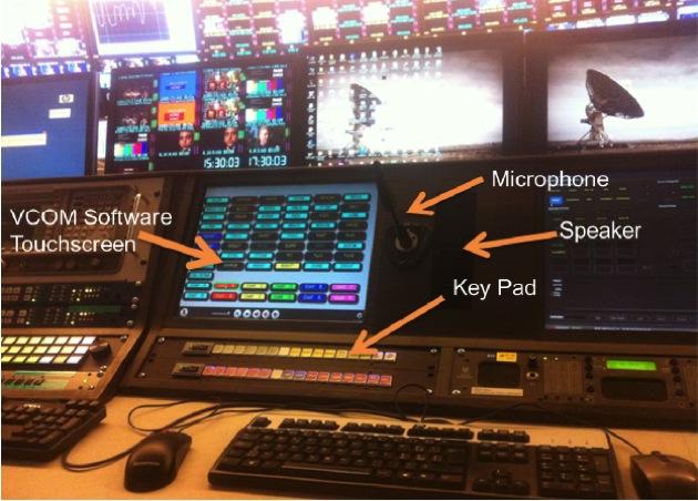 VCOM Wireless Broadcast Intercom App Interface Pic