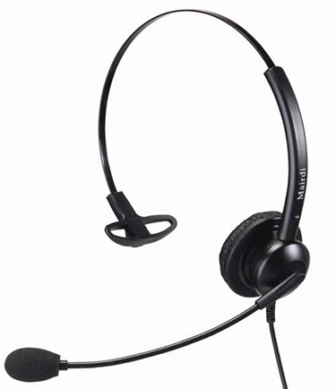 A headset compatible with vcom