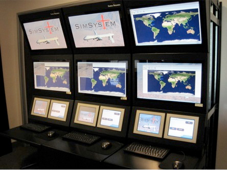 Aerospace VCOM Virtual Tactical Military Communications Screens at Nasa