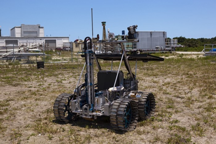 Photo of the Regolith and Environment Science and Oxygen and Lunar Volatile Extraction (RESOLVE) platform. Image credit: NASA, Source: https://www.nasa.gov/images/content/660260main_resolve-full.jpg