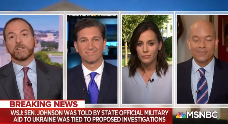 MSNBC news broadcast
